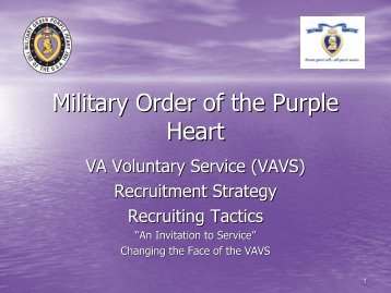 VAVS Recruiting Strategies and Tactics - Military Order of the Purple ...