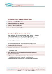 Stecher Logistics GmbH - überzeugt durch Leistung