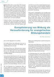 Europäisierung von Bildung als ... - Comenius-Institut
