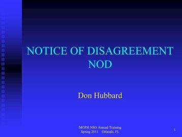 Notice of disagreement nod