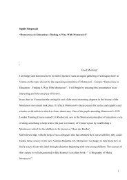 Fitzgerald Democracy in Education - Montessori Europe