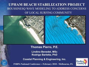 Upham Beach Stabilization Project: Boussinesq Wave ... - fsbpa