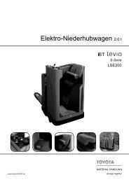Elektro-Niederhubwagen Levio LSE200 - Toyota Material Handling ...