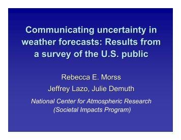 Communicating Forecast Uncertainty - Societal Impacts Program