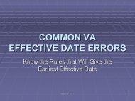 common va effective date errors - Military Order of the Purple Heart