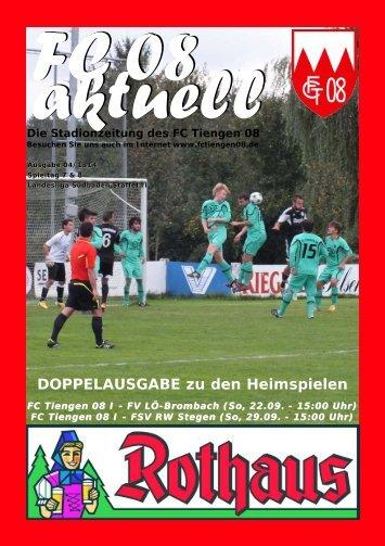 Doppelausgabe zu den Heimspielen am 22.9 ... - FC Tiengen 08 eV