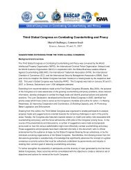 Outcomes Statement - Global Congress Combatting Counterfeiting ...