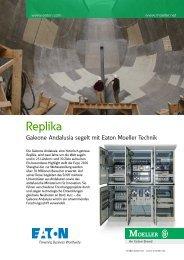 Replika - Galeone Andalusia segelt mit Eaton Moeller Technik