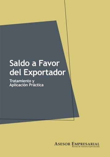 Saldo a Favor del Exportador - Revista Asesor Empresarial