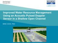 Improved water resource management using an acoustic ... - ICWT