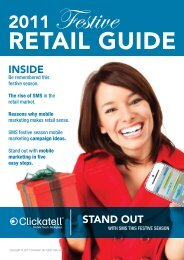 Festive Retail Guide 2011 - FINAL-20111011 - Clickatell