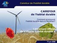 cluster habitat durable - Conseil général du Morbihan