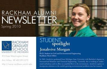 NEWSLETTER - Rackham Graduate School - University of Michigan