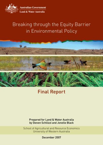 Final Report Breaking through the Equity Barrier in Environmental ...