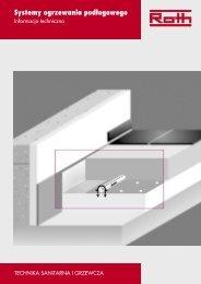 Systemy ogrzewania podłogowego - Roth