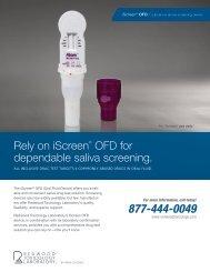 iScreen ® OFD data sheet - Redwood Toxicology Laboratory