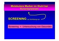 Molekulare Marker im Stuhl bei Kolonkarzinom SCREENING zur ...