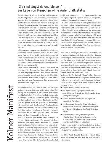 Kölner Manifest als Pdf - Kölner Appell gegen Rassismus