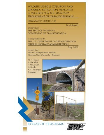 Wildlife-Highway Crossing Mitigation Measures and Associated Cost