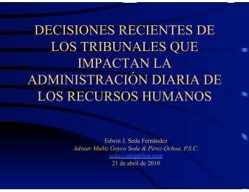 decisiones recientes de los tribunales que impactan la