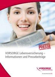VORSORGE Lebensversicherung – Informationen und ... - Anbieter
