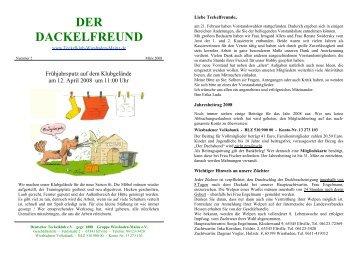 Der Dackelfreund - Nr. 2/2008 - Teckelklub Wiesbaden/ Mainz
