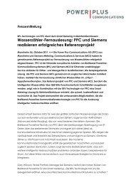 PPC und Siemens realisieren erfolgreiches ... - Möller Horcher