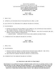 Special Meeting Agenda and Minutes - East Baton Rouge Parish ...