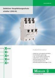 Selektiver Hauptleitungsschutz- schalter LSHU-KL - Moeller