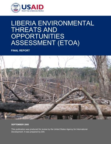 """environmental threats and opportunity profile Environmental threats and opportunities assessment  ghana's """"country  profile"""" on the conservation of biodiversity (cbd) website states that there were."""