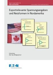 Exportrelevante Spannungsangaben und Netzformen in ... - Moeller