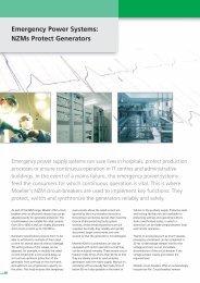 Emergency Power Systems: NZMs Protect Generators  - Moeller