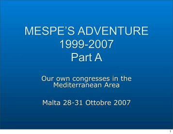 TO DOWNLOAD THE DOCUMENT (PDF - Part ONE of ... - Mespe.net