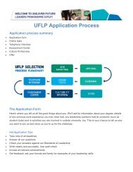 UFLP Application Process - Universum Talent Networks