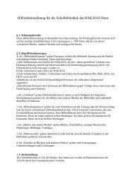 Bibliotheksordnung für die Schulbibliothek der HAK/HAS Horn