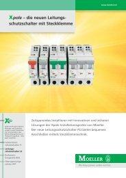 Xpole – die neuen Leitungs- schutzschalter mit Steckklemme - Moeller