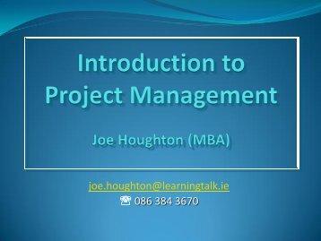 Introduction to Project Management - DIAS