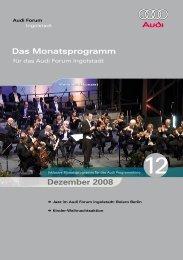 Das Monatsprogramm Dezember 2008