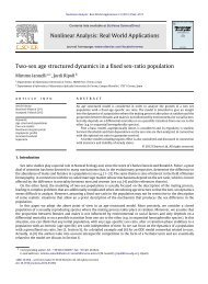 Two-sex age structured dynamics in a fixed sex ... - ResearchGate
