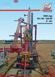 HDD-rigs PD 100 - 500 RP 0°- 90° - Prime Drilling GmbH