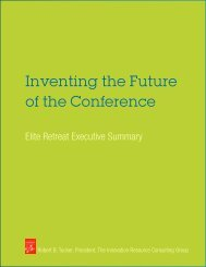 Inventing the Future of the Conference - BullsEye Resources