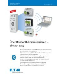 Über Bluetooth kommunizieren – einfach easy - Moeller