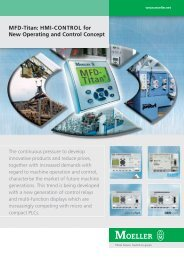 MFD-Titan: HMI-CONTROL for New Operating and Control ... - Moeller