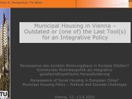 Municipal Housing in Vienna – Outdated or (one of) the Last Tool(s ...