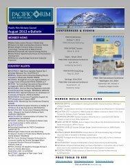 August 2013 e-Bulletin(.pdf) - Pacific Rim Advisory Council (PRAC)