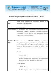 """Poster Making Competition: """"A Student Welfare Activity"""""""
