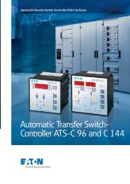 Automatic Transfer Switch- Controller ATS-C 96 and C 144 - Moeller