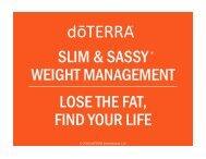 Slim & Sassy Weight Management - dōTERRA - Essential Oils