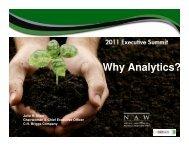 Why Analytics?