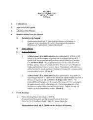 Council Agenda Tuesday, July 14, 2009 - City of St. John's